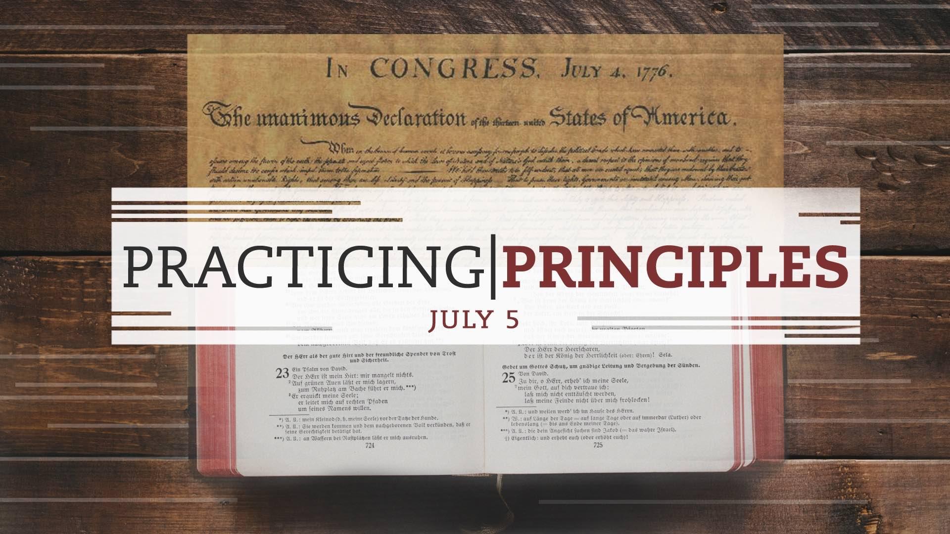 Practicing Principles